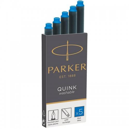 Синие неводостойкие картриджи Parker (Паркер) Quink Cartridges Washable Blue 5 шт в Челябинске