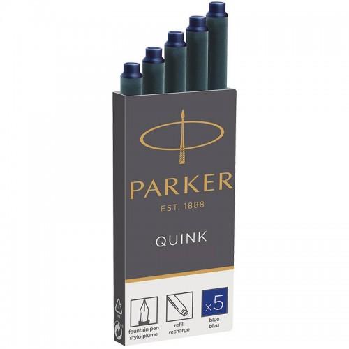 Синие картриджи Parker (Паркер) Quink Cartridges Blue 5шт в Челябинске