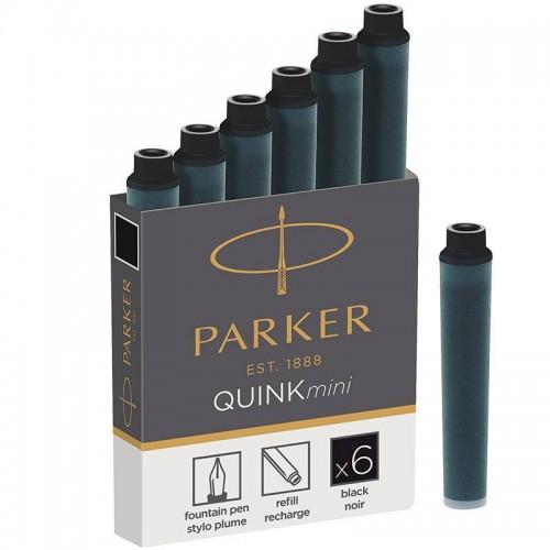 Черные мини картриджи Parker (Паркер) Quink Mini Cartridges Black 6 шт в Челябинске
