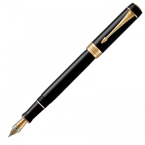 Перьевая ручка Parker (Паркер) Duofold Classic Centennial Black GT F в Челябинске
