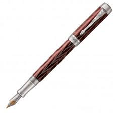 Перьевая ручка Parker (Паркер) Duofold Prestige Centennial Burgundy Chevron CT M