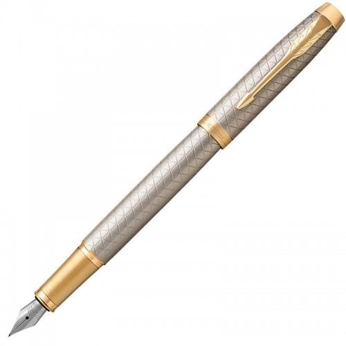 Перьевая ручка Parker (Паркер) IM Premium Warm Silver/Gold GT F в Челябинске