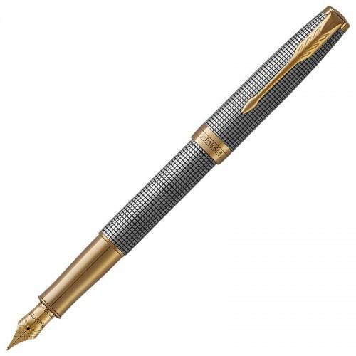 Перьевая ручка Parker (Паркер) Sonnet Luxury Cisele Silver GT F в Челябинске