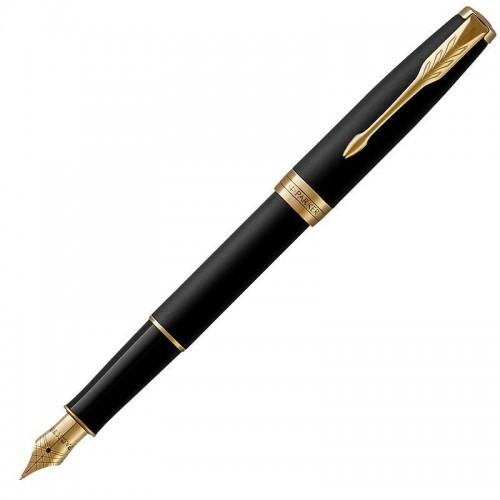Перьевая ручка Parker (Паркер) Sonnet Core Matte Black Lacquer GT F в Челябинске