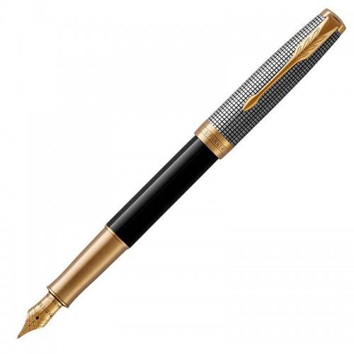 Перьевая ручка Parker (Паркер) Sonnet Premium Black Silver GT F в Челябинске