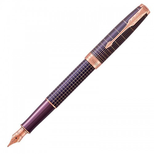 Перьевая ручка Parker (Паркер) Sonnet Luxury Purple Matrix PGT F в Челябинске