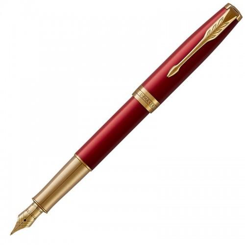 Перьевая ручка Parker (Паркер) Sonnet Core Red Lacquer GT F 18k в Челябинске