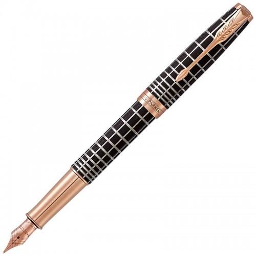 Перьевая ручка Parker (Паркер) Sonnet Premium Brown Rubber PGT F 18k в Челябинске