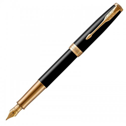 Перьевая ручка Parker (Паркер) Sonnet Core Black Lacquer GT F в Челябинске