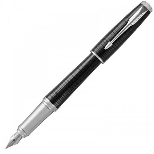 Перьевая ручка Parker (Паркер) Urban Premium Ebony Metal Chiselled CT F в Челябинске