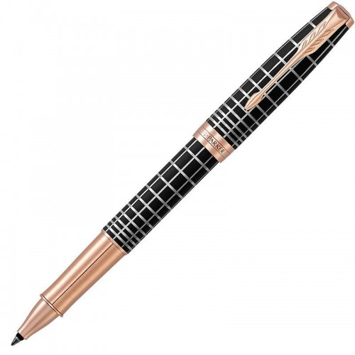 Ручка-роллер Parker (Паркер) Sonnet Premium Brown Rubber PGT в Челябинске