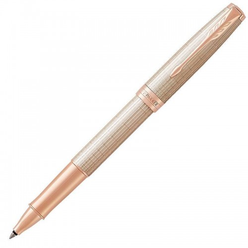 Ручка-роллер Parker (Паркер) Sonnet Luxury Cisele Silver PGT в Челябинске