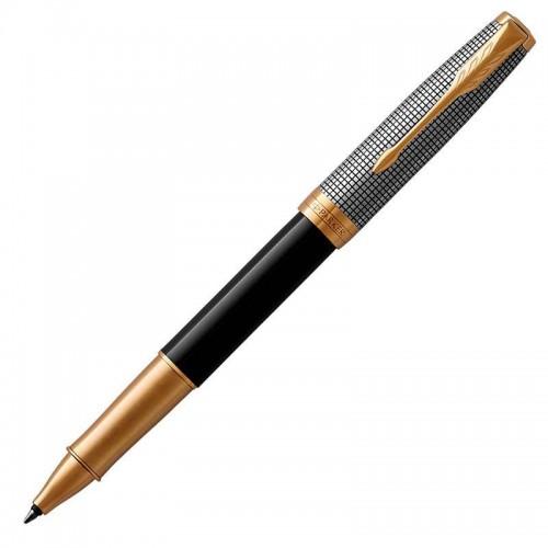 Ручка-роллер Parker (Паркер) Sonnet Premium Black Silver GT в Челябинске