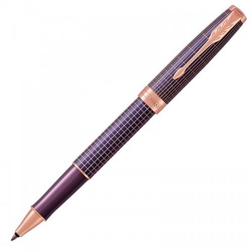 Ручка-роллер Parker (Паркер) Sonnet Luxury Cisele Purple Matrix PGT в Челябинске