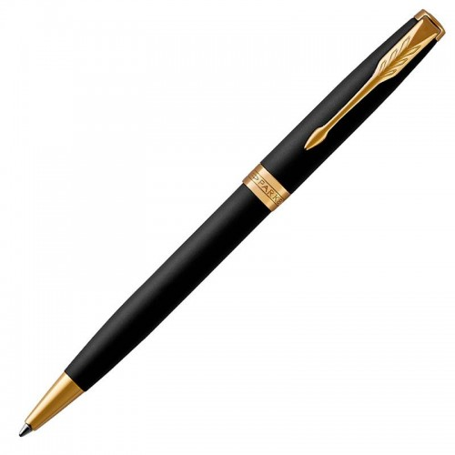 Шариковая ручка Parker (Паркер) Sonnet Core Matte Black Lacquer GT в Челябинске