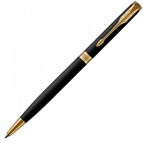 Шариковая ручка Parker (Паркер) Sonnet Core Slim Matte Black Lacquer GT в Челябинске