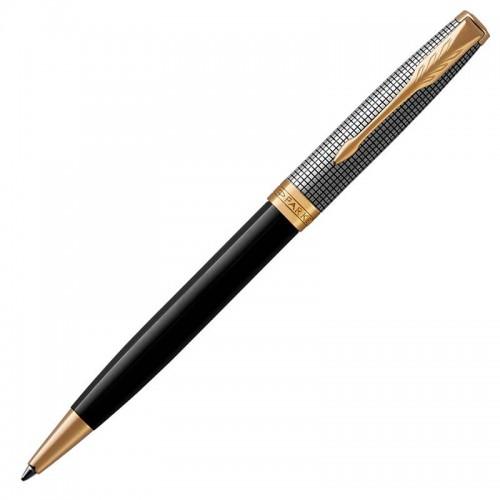 Шариковая ручка Parker (Паркер) Sonnet Premium Black Silver GT в Челябинске