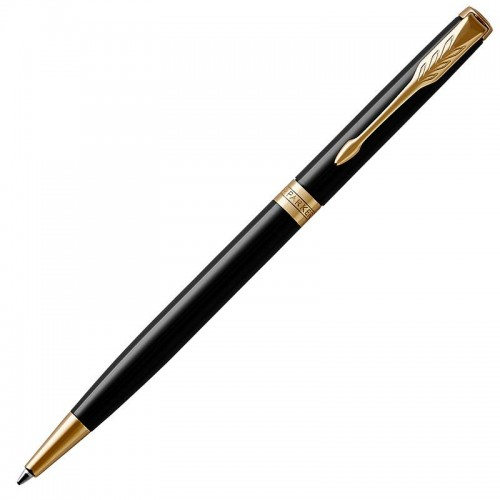 Шариковая ручка Parker (Паркер) Sonnet Core Slim Black Lacquer GT в Челябинске