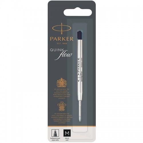 Чёрный шариковый стержень Parker Ball Pen Refill QuinkFlow Premium M Black в Челябинске